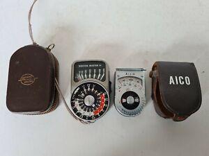 Sangamo Western Master IV Professional Light Meter and AICO Light Meter Cased