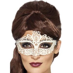 Blanc Dentelle Filigrane Masque