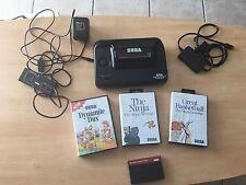 CONSOLE SEGA Master System 2 II + 1 manette + câbles + 4 jeux
