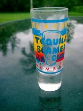 CANCUN MEXICO TEQUILA SLAMER CLUB  MEMBER  LOGO  TALL SHOT GLASS COLORFUL ITEM
