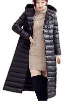 Doudoune Longue Femme Manteau Duvet Plume Canard Légère Mode Hiver Avec Ceinture