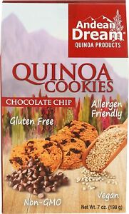 Andean Dream Quinoa Cookie, Chocolate Chip, 7 OZ (Pack of 2)