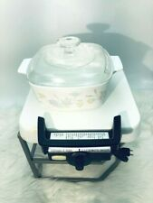 CORNING WARE Electromatic Electric Skillet Hotplate and 1 bakeware dishes