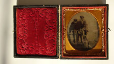 Tintype Bicyclists 1/6 Plate in Case