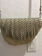imoshion Metallic Gold Rhinestone & Studded Shoulder  handbag