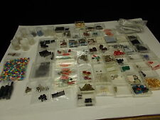 Various Electronic Components IN> 100 Plastic Boxes, #V-17