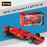 New Bburago 2018 1:43 Ferrari F1 SF71H Racing car 7# Kimi Raikkonen Diecast Toys