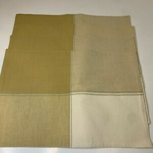 placement set of 4 table settings beige tan modern 18x12