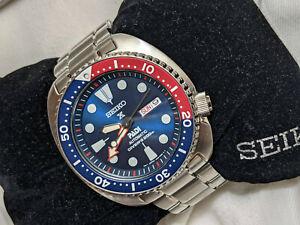 Seiko Prospex PADI Turtle Automatic Pepsi Special Edition Diver's Watch SRPA21
