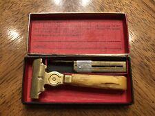 Vintage Schick Injector Razor Art Deco Style With Bakelite Handle