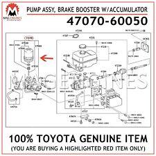 47070-60050 GENUINE OEM PUMP ASSY, BRAKE BOOSTER W/ACCUMULATOR 4707060050