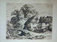 Importante Grabado Por Laplace Imp.Padovani La Moulin de La Ruptura 46cm