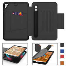 """For iPad Mini 5 4 Air 2 Pro 9.7"""" Smart Shockproof Cards Holder Table Case Stand"""