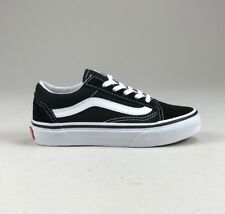 Vans Kids Old Skool Trainers Pumps Black White UK Kids size 10 ac984add3