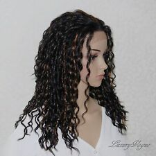 Handsewn Perruque FULL LACE FRONT Curly Wigs 9177#1BF30