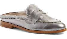 NIB AGL Attilio Giusti Leombruni Penny Loafer Mule Nickle Leather Flat 40/US 10