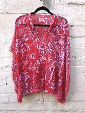 Vivienne Tam Sheer Poncho Tunic Floral Size Medium
