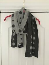 Paul Costelloe dressage scarf grey polka dot NWOT