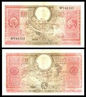Belgium 1943 , 100 Francs-20 Belgas, P123,RARE ! Banknote