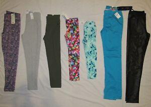 NEW JUSTICE GIRLS SIZE 5 6 7 8 10 12 16 18 HIGH-WAIST/REG LEGGINGS/PANTS PICK 1