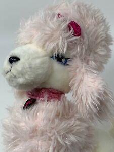 "Applause Barbie Plush Pink & White Poodle Dog 11"" Soft Stuffed Animal  68397"