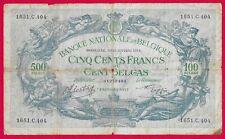 Bilj. 500 Belg. Fr. // Cent Belgas  11 Octobre 1943