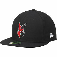 Indianapolis Indians New Era Authentic Road 59FIFTY Fitted Hat - Black