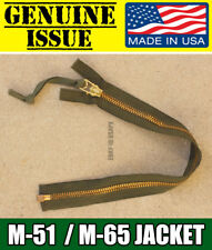 SCOVILL US MILITARY BRASS ZIPPER M-65 M-51 JACKET REPLACEMENT REPAIR ARMY TALON