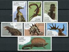 Guinea-Bissau Dinosaurs Stamps 1989 MNH Tyrannosaurus Stegosaurus 7v Set