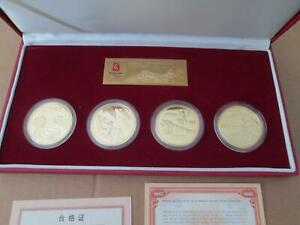 2008 Olympics Beijing Ancient China Four Great Inventions Medallion Set