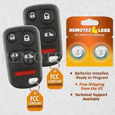 2 For 2001 2002 2003 2004 Honda Odyssey Keyless Entry Remote Car Key Fob