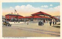 D91/ Oswego New York NY Postcard NYC&DLW Railroad Depot Station c1910    8