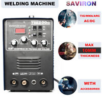 IGBT Inverter AC/DC WIG TIG/MMA Stick ARC Welder Aluminum Welding Machine 200A