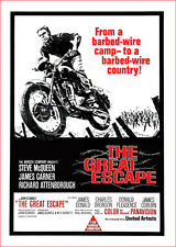 GREAT ESCAPE-Steve McQueen FILM POSTER stampa -- A3