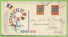 Netherlands 1959 NATO set on First Day Cover