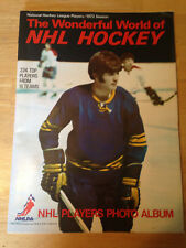 1973 THE WONDERFUL WORLD OF NHL HOCKEY COMPLETE ALBUM 224 STICKER SET BOBBY ORR