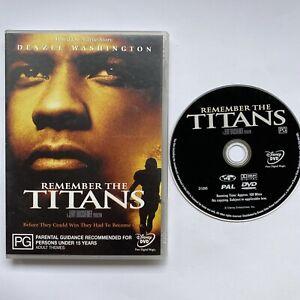 Remember The Titans (DVD 2000) Region4 PAL DRAMA Denzel Washington Free Post