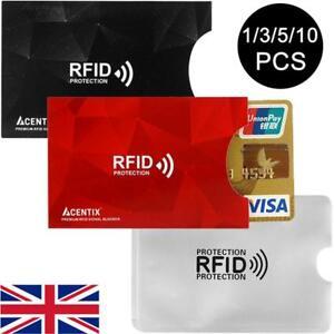 RFID Blocking Card Holder 1/3//5/10 Credit/Debit/Bank Protect Contactless Holder