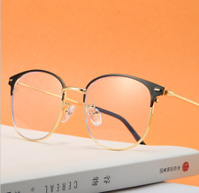 Fashion Anti-blue light Metal Eyeglass frames Retro Glasses Eyewear Plano lenses