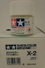 Tamiya acrylic paint X-2 White 10ml Mini.