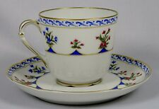 BERNARDAUD CHATEAUBRIAND BLUE Coffee  Cup & Saucer Set