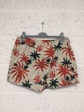 Topshop Palm Tree Patterned Skort - Orange Black Skirt Shorts Summer - UK 16