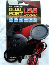 Vespa GTS GTV PX Lambretta 12v Waterproof Power Plug Sat Nav Phone Charger USB