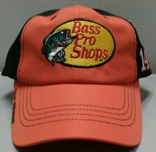 Tony Stewart Bass Pro Shops Standard Adjustable Checkered Flag Hat Free Ship