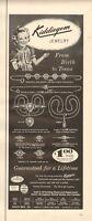 1954 Kiddiegem Jewelry From Birth to Teens PRINT AD