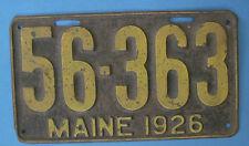 1926 Maine license plate