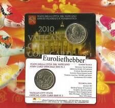 Vaticaan      50 CENT 2010    COINCARD    Officiële set