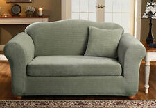 Sure Fit Stretch Royal Diamond Sofa Slipcover Separate Seat Box Style Cushion