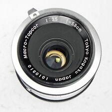 Topcon RE 5.8cm f3.5 Macro-Topcor  #1010310