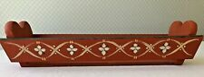 Vintage Wooden Cracker Bread Tray Holder Hand Painted